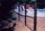 5 ft black vinyl chainlink system - pool code