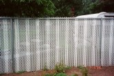 6' chain link with alternating slats
