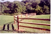4ft high 3 rail split rail