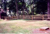 4ft high 3 rail split rail with green wire