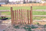 4' high 3 rail split with spaced picket - domed gate