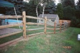 4' high 4 rail split with cedar gate