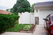6' Georgetown (Square lattice) w/ Newport Arched Gate